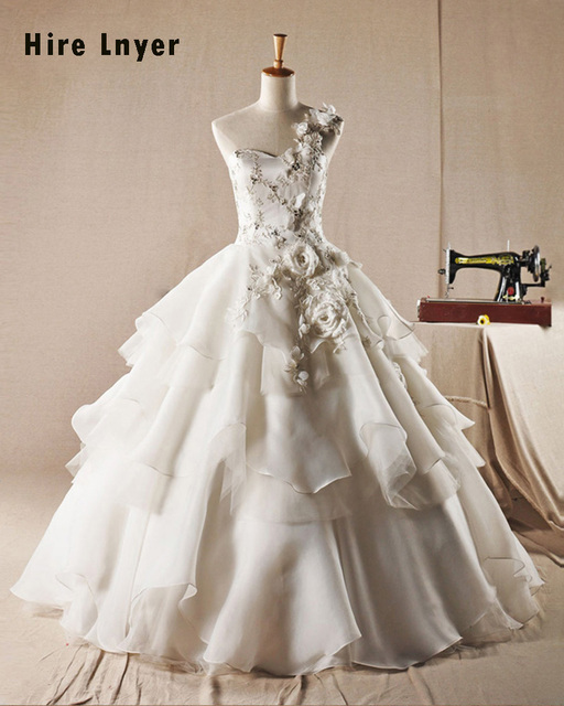 Najowpjg Custom Made Gorgeous Bridal Gowns Robe Mariage One Shoulder ...