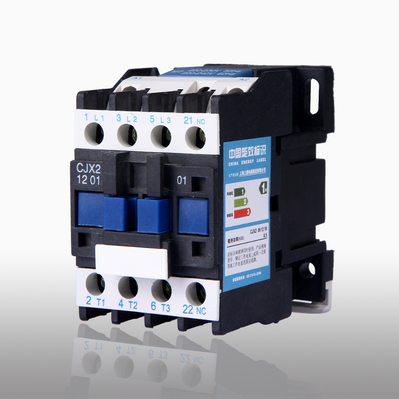 1 OFF 0 ON AC Contactor for Motor Starter Relay AC-3 3P 3 Pole 220 Volts Coil 12A 220V CJX2-1201 best quality ac contactor cjx2 150 150a 3p used for ac motor