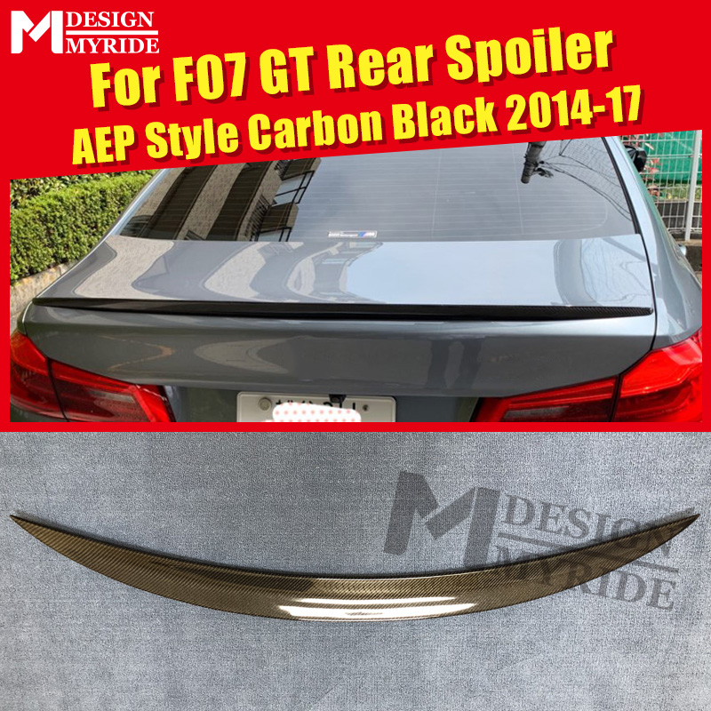F07 GT Spoiler Tail rear lip wing Carbon Fiber AEP Style Fits For F07 GT 535i 550i 535iGT 550GT rear trunk Spoiler wings 2014-17F07 GT Spoiler Tail rear lip wing Carbon Fiber AEP Style Fits For F07 GT 535i 550i 535iGT 550GT rear trunk Spoiler wings 2014-17