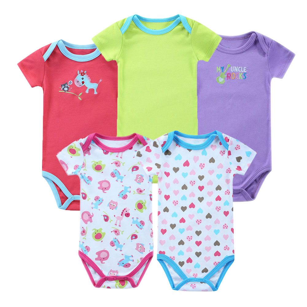 8cd2aba342a4c 5pcs  lot 100% Cotton Baby Bodysuits Raccoon Body Baby Boy Baby Girl Boy  Baby Bodysuits 0-12 months bebe menino Fast Shipping
