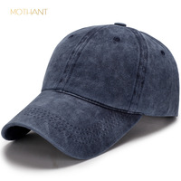 Spring and autumn new cotton washed baseball cap men and women casual light board old visor solid color duck tongue hat