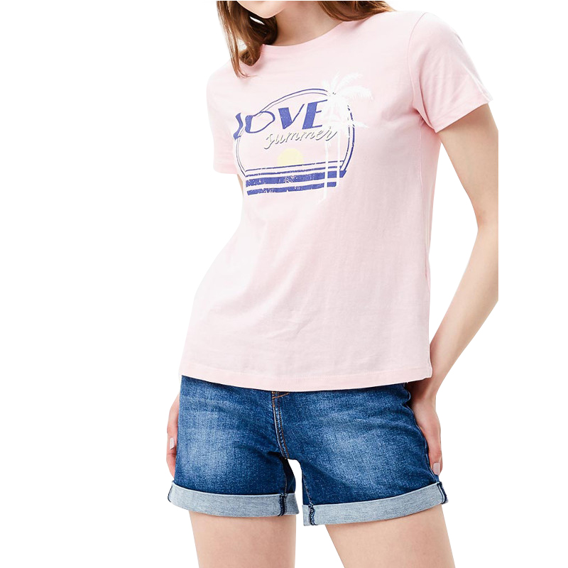T-Shirts MODIS M181W00664 women shirt cotton for for female TmallFS t shirts t shirt befree for female cotton shirt short sleeve women clothes apparel 1811579424 4 tmallfs