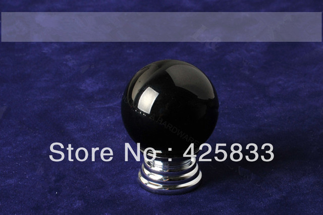 K9 Black Crystal Cabinet Handles Glass Drawer Pulls Knobs Kitchen Hardware Knobs Wholesale Free Shipping