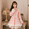 2017 autumn and winter new sweet long-sleeved cotton women's  coat