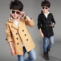 Fashion 2017 Spring Autumn Double Breasted Jacket Boys Trench Coat Long Sleeve Trench Kids Coat Boys Jackets And Coats JW2116