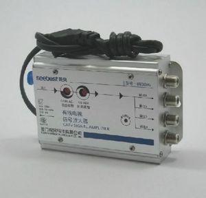 Image 2 - Регулируемый кабель 30 дБ, Усилитель ТВ сигнала 45 860 МГц 2 Вт, 1 в 4 выхода, усилитель тв