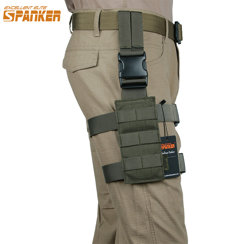 EXCELLENT ELITE SPANKER Outdoor Hunting Mini Legs Hanging Plate Tactical Legs Hanging Training Camo Molle Equipment