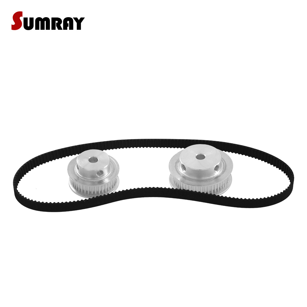 SUMRAY GT2 Timing Pulley Belt Set 2GT 40T 40T Reduction CNC Pulley Wheel GT2 Timing Belt GT2-280mm For 3D Printer цена