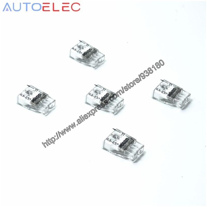 100pcs wago 2273 202 mini pushfit connectors compact 2x2 5qmm cage clamp connection push wire