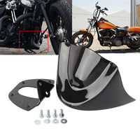 Gloss Bright Black Motorcycle Lower Front Chin Spoiler Air Dam Fairing Cover For Harley 06 Up