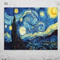 Ręcznie Malowane Wysokiej Jakości Nowoczesny Obraz Olejny Craft Sztuki Na Płótnie Kopia Słynnego Obrazu Van Gogha Sztuki Living Room Decor
