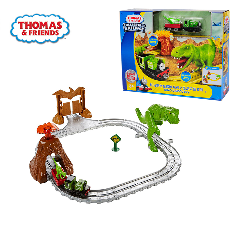 Original Thomas & Friends the Mini Train Alloy Adventure Dinosaur Park set Railway Track Boy Gift Model Car Toys For Children