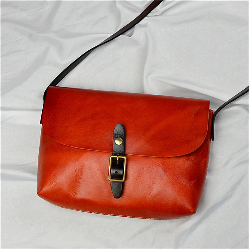 Nesitu Brown Black Red Coffee Yellow Green Thick Vegatable Tanned Genuine Leather Women Messenger Bag Shoulder Bags M21093Nesitu Brown Black Red Coffee Yellow Green Thick Vegatable Tanned Genuine Leather Women Messenger Bag Shoulder Bags M21093