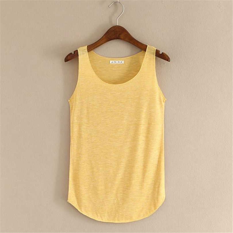 MIARHB Crop Tops Women 2019 Summer Tank-sleeveless Round Neck Loose Singlets Vest Pure T-Shirt sexy Camisoles Blouse New A20