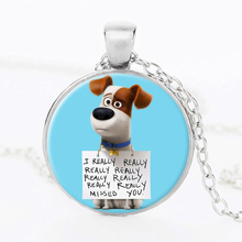The Secret Life of Pets Glass Necklace The Animal Photo Necklace Bird Jewelry Rabbit Dachshund Dog Greedy Necklace
