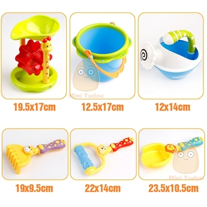 Image 3 - Conjunto de brinquedos de praia, plástico, crianças, areia com modelo de animal bonito, pá, balde, conjunto de areia, jogo de ferramentas de praia para crianças jogo jogo tabuleiro