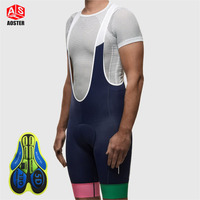 AOSTER Mens Pro Cycling Bib Shorts Tour De France MTB Downhill Shorts Quick Dry Breathable Mountain