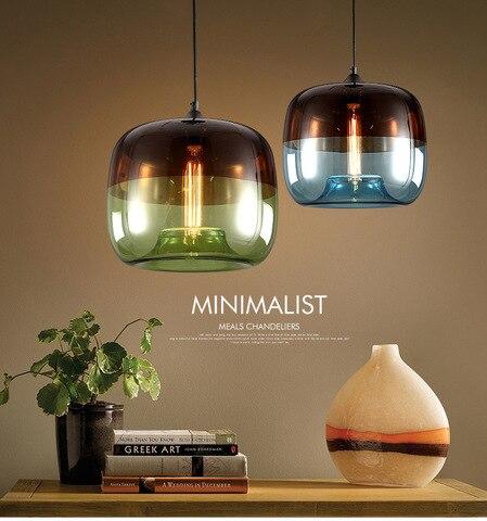 lustre de vidro industrial loft vento rural americano restaurante bar nostalgia retro criativo lustre ambar