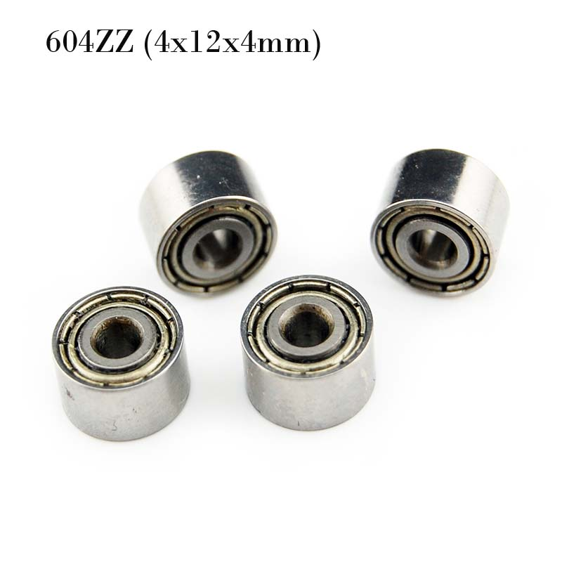 20 pcs 4x12x4 mm 604zz 4*12*4 Metal Shielded Ball Bearing Bearings