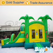 Sea Shipping Jungle Inflatable Slide Jumper Combo Bouncer Bouncy Castle Slide With En71 Certification