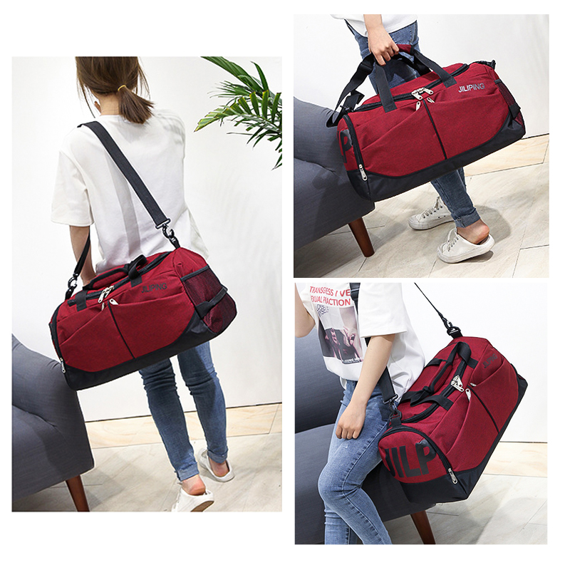 MARKROYAL Nylon Men Multifunction Travel Bag Anti-theft Male Travel Bags Carry On Hand Luggage Multiple Pockets Travel Handbags (3)