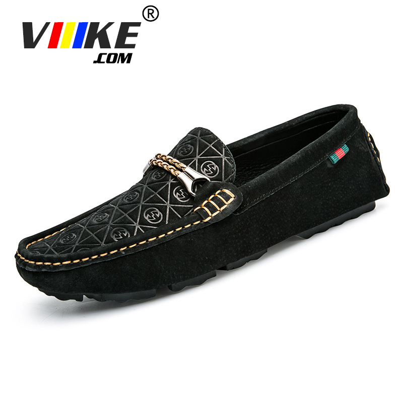 Viiikecom Men Casual Shoes 2018 Fashion Men Shoes Genuine Leather Men Loafers Moccasins Slip on Men's Flats Loafers Male Shoes genuine leather men shoes casual loafers slip on mens driving shoes flats moccasins comfortable leisure male hot fashion
