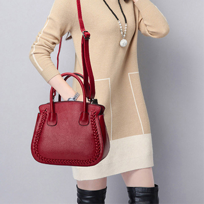 Luxury Quality Ladies Leather Handbags Women Shoulder Bag Famous Designer Large Capacity Vintage Tote Bags red/grey/black/purple imido 2017 europe large capacity pu leather bags ladies brand designer bag women handbags tote quality black blue bolsa hdg037