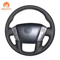 MEWANT Black Artificial Leather Steering Wheel Cover for Nissan Patrol Armada NV Cargo NV Passenger (US) Titan Infiniti QX56