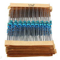 FreeShipping 640pcs 64 Values 1R 10MR 1 4W Metal Film Resistors Assorted Kit Set