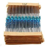 FreeShipping 640pcs 64 Values 1R 10MR 1 4W Metal Film Resistors Assorted Kit Set