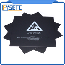 1 adet 220x220mm Siyah Buzlu Isıtmalı Yatak Için Wanhao i3 Anet A8 A6 Ender-3 Sticker Yapı Levha yapı Plaka Bant 3 M Destek
