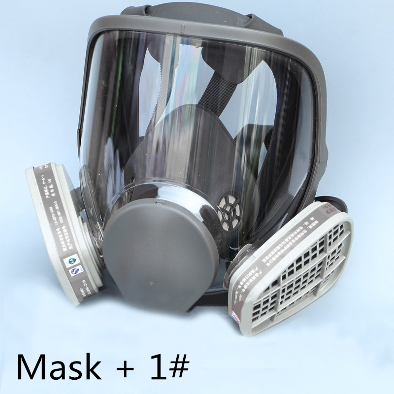 FGHGF Hot Sale 6800 Gas Mask Add  3# 4# Cartridge Suit Full Face Facepiece Respirator for Painting Spraying Set SaleFGHGF Hot Sale 6800 Gas Mask Add  3# 4# Cartridge Suit Full Face Facepiece Respirator for Painting Spraying Set Sale