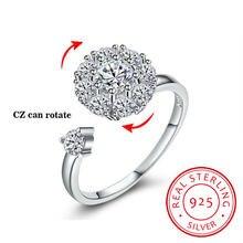 Женские вращающиеся кольца из стерлингового серебра 925 пробы