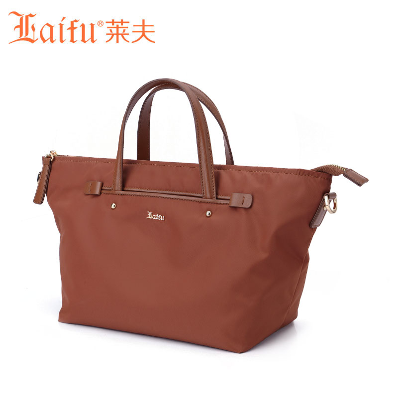 ФОТО Laifu Brand New 2017 Fashion Handbag Nylon Tote Bag Europe America Style Shopping School Black Chocolate Purple