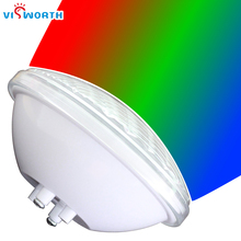 цены Par56 LED bulb 24W 36W 12V swimming pool lamp lighting  RGB IP68 underwater light Pond lights free shipping