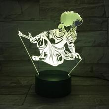 League of Legends LoL Heros Table Lamp Bedroom Touch Sensor 7 Color Changing Child Kids the Unforgiven Yasuo LED Night Light цена