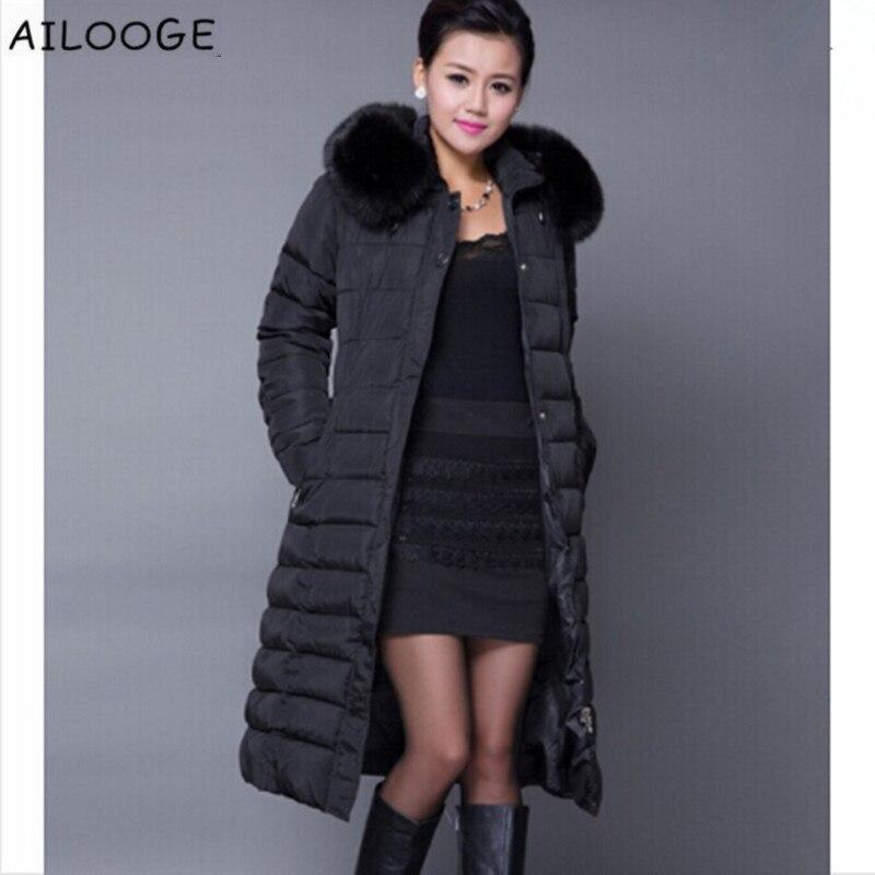 cee0018da AILOOGE Winter Jacket Women Winter Coat Women Plus Size 5XL Long Parka  Luxury Fur Cotton-Padded Down Coats Women Wadded Jackets