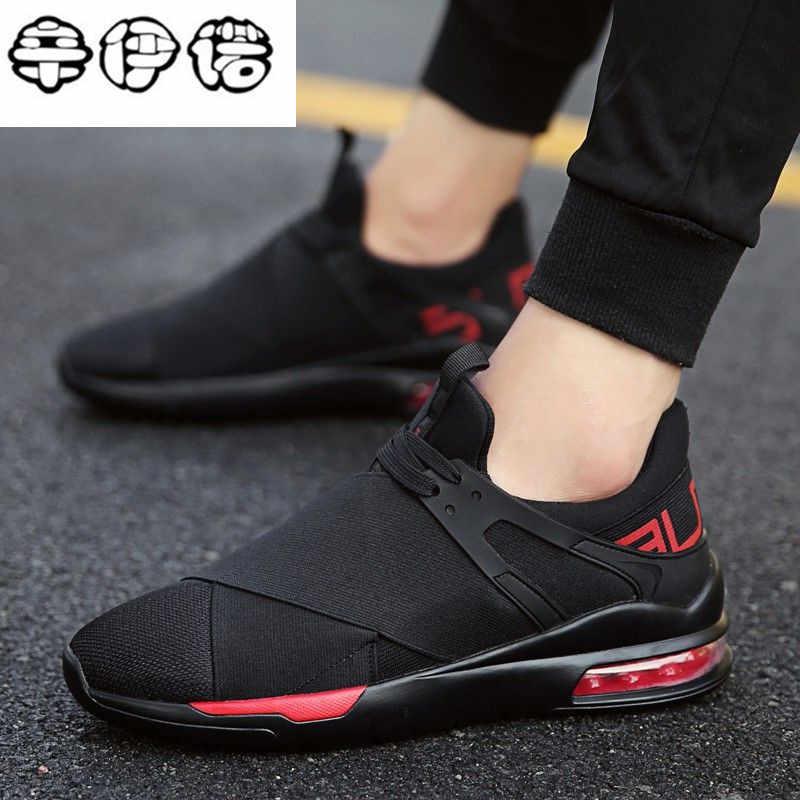 97e6fecc06d Новая воздушная подушка весна лето мужские кроссовки повседневная обувь с  дышащей сеткой для мальчиков модная обувь
