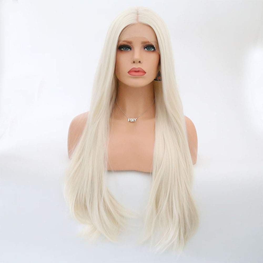 Charisma Long Natural Wave Synthetic Lace Front Wig Blonde Hair Color Heat Ressitant Fiber Half Hand