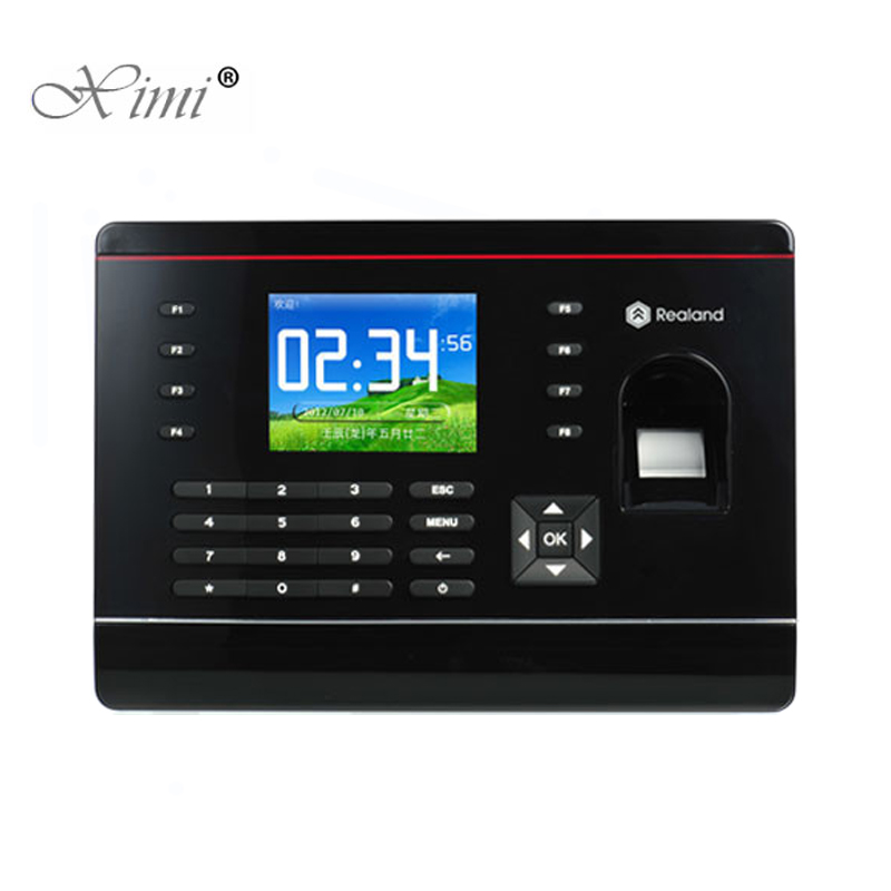A-C061 2.8inch Color Screen TCP/IP Fingerprint Time Attendance With RFID Card Reader P2P Cloud Service Time Recording Time Clock