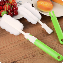 Bottle Cleaning Brush With Long Handle Sponge Tool For Water Bottles, Baby Or Narrow Necke