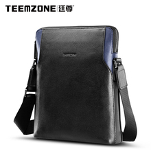 Teemzone Brand Handbag Men Shoulder Bags Business Casual Genuine Leather Crossbody Bag Briefcase Men's Messenger Bag