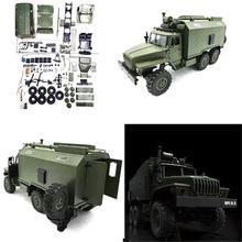 WPL B36 1:16 RC سيارة 2.4G 6WD شاحنة عسكرية روك الزاحف القيادة الاتصالات مركبة طقم هيكل قذيفة لتقوم بها بنفسك لعب للأولاد