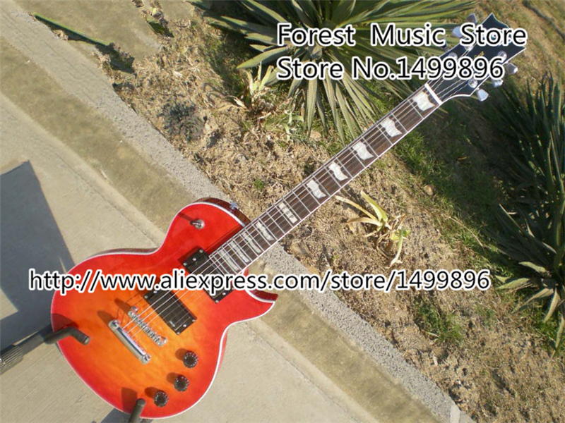 New Arrival ESP Standard Series E-II Eclipse Electric Guitar Cherry Sunburst Quilted Top Binding Guitar Body купить