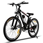 Ancheer New 26 Inch Electric Bike Brushless Bicicleta Electrica Black Velo Electrique Ebike Mountain Electric Bicycle EU/UK Plug