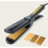 Useful 220v Carbon Steel Thermal Conductor 3in1 Straight Hair Curler Professional Salon Straight Hair Styling Tool