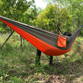 Hot selling double essential outdoor parachute cloth hammock camping hammock swing leisure riding
