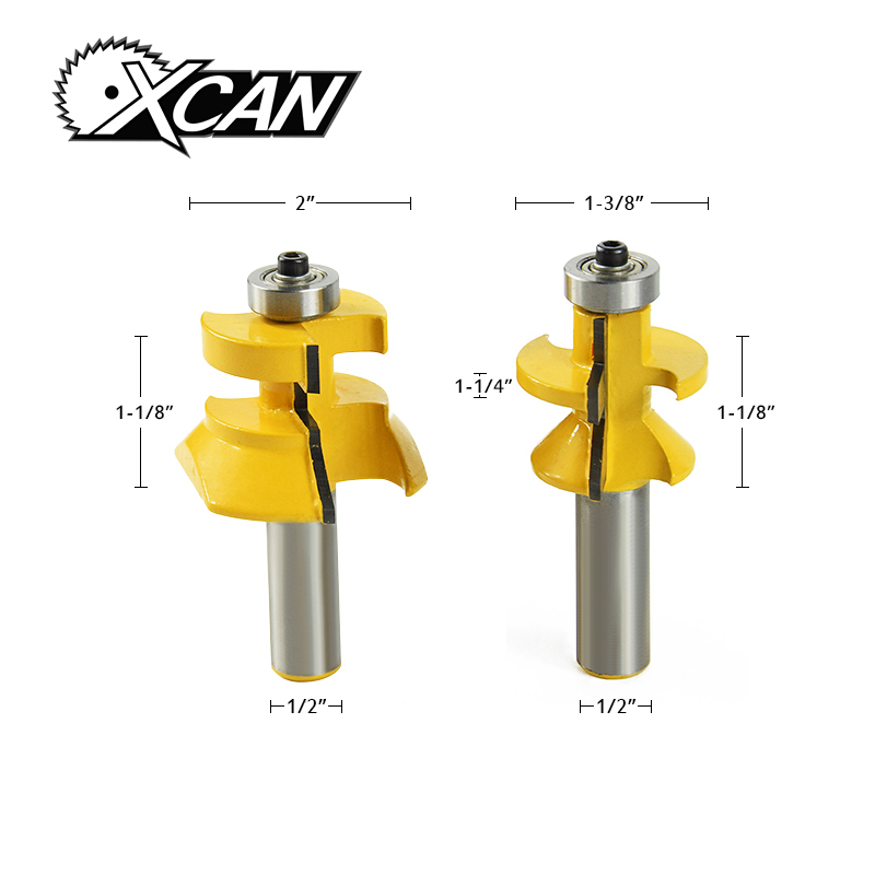 XCAN! 1/2 shank router bit for woodworking Woodruff Keyseat Milling Cutters Tongue & Groove and V-notch Router Bit 1 2 shank router bit milling cutters for doors woodworking tool trimming flooring wood tools