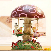 Rotating decorations music box Happy forest fairy carousel music box sweet musica gifts for lovers