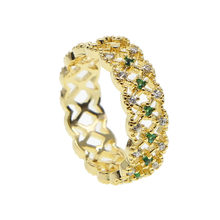 2019 New Fashion Jewelry 3 colors Cross Rings AAA Zircon Crystal Vintage Gold-Color For Women Party Finger Luxury Bijoux Size 7(China)